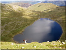 NY3415 : Red Tarn from Near Top of Helvellyn by Charles Rispin