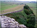 NY7166 : Hadrian's Wall at Cawfields by Charles Rispin