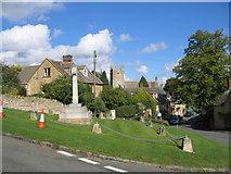 SP1729 : Village green, Longborough by David Stowell