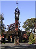 SJ6855 : Clock Tower, Queen's Park, Crewe by Graham Shaw