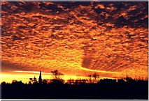 SK8770 : Spectacular sunrise over Harby by Richard Croft