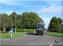 NS3218 : Longhill Avenue Roundabout by Mary and Angus Hogg