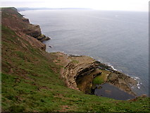 TA1281 : The view north westwards from Filey Brigg by Andy Beecroft