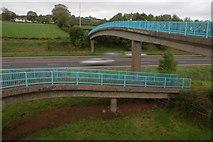 J2087 : M2 footbridge near Donegore, Co Antrim by Albert Bridge