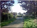 TM3457 : Blaxhall Hall Crossing in Hoo Lane by Adrian Cable