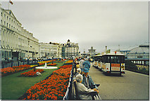 TV6198 : Flower Beds on Eastbourne Promenade by Colin Smith