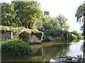 SP2864 : Remains of Warwick's medieval bridge. by David Stowell