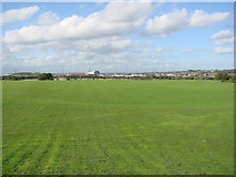 SE4422 : Football Pitches in the centre of the racecourse, Pontefract Park. by Bill Henderson