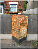 SJ6652 : Milepost on Crewe Road, east of Nantwich by Espresso Addict