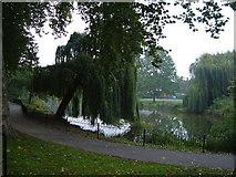 TQ2574 : Lake in King George's Park, Wandsworth by Derek Harper