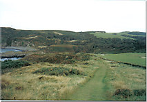 NW9954 : Clifftop path near Portpatrick by Ann Cook
