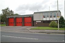 SK0418 : Rugeley fire station by Kevin Hale