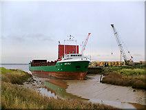 """TA0623 : """"Natali"""" discharging at Barrow Haven by David Wright"""