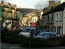 SD9323 : Fielden Square and the Golden Lion, Todmorden by Phil Champion