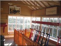 SK1461 : Interior of Hartington Signal Box by David Stowell