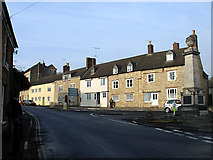 ST7593 : Old Town, and War Memorial, Wotton-under-Edge by Linda Bailey