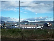 NS3174 : New Roundabout On A8 At Port Glasgow by Thomas Nugent