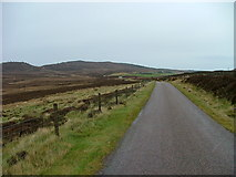 NH5639 : Road and Moorland by Dave Fergusson