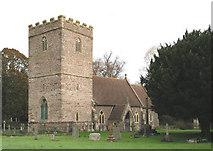 SO0725 : St Brynach's Church, Llanfrynach by Tony Hodge