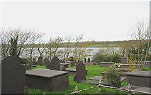 SH5066 : Graveyard above the Menai Straits by Eric Jones