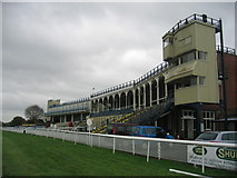 SO4877 : Ludlow race course grandstand by David Stowell
