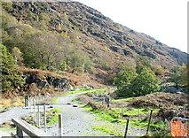 SH5947 : Railway trackbed under construction south of the  Bryn y Felin Bridge by Eric Jones