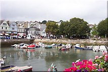 SX8751 : Jigsaw puzzle view of the inner harbour at Dartmouth. by Jonathan Billinger