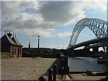SJ5183 : Toll Booth for Transporter Bridge, Widnes by Sue Adair