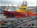 NJ9406 : Ships in Aberdeen Harbour by Richard Slessor