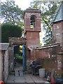 NY6228 : Belfry of St Edmund's Church, Newbiggin by Humphrey Bolton