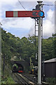 SD3484 : Haverthwaite Steam Railway, Old Signal by Alan Pennington