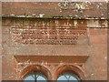 NY6228 : Inscription on the tower of Newbiggin Hall by Humphrey Bolton