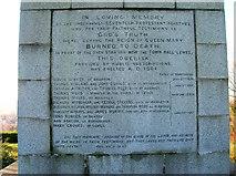 TQ4210 : Martyr's Memorial Inscription by Simon Carey