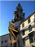 SE2934 : Golden Clock on Leeds Civic Hall. by Steve Partridge