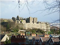 SS6188 : Oystermouth Castle by Jennifer Luther Thomas