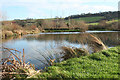 SY2793 : Axmouth: Lower Bruckland Trout Fishery by Martin Bodman