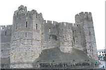 SH4762 : The Black Tower and Queen's Gate Tower of Caernarfon Castle by Eric Jones
