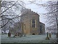 SP8822 : All Saints, Wing on a frosty morning by Rob Farrow