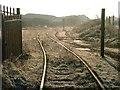 NZ4921 : Disused Railway Siding, Riverside Park by Mick Garratt