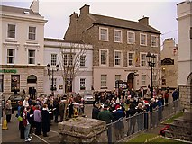 SC2667 : Carol singing in the square, Castletown, Isle of Man by kevin rothwell