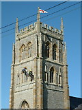 ST3733 : Survey of Church Tower in Middlezoy by Ian Brown