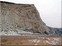 SY8080 : Cliff at the eastern extreme of the Scratchy Bottom embayment, Durdle Cove by Jim Champion