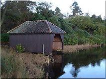 NU0702 : Boathouse, Nelly's Moss North Lake by Derek Harper