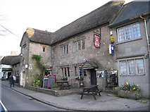 SX7087 : The three crowns Chagford by Keith Ramsden