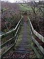 NU0900 : Footbridge over Black Burn by Derek Harper