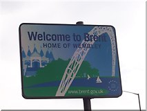 TQ1785 : Welcome To Brent by Russell Trebor