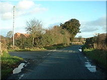 SJ4030 : Road junction near The Outcast by David Medcalf