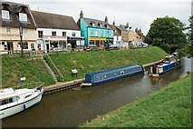 TL4196 : March town Quay - river Nene (old course) part of the Middle Level waterway by David Bartlett