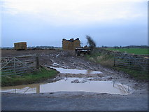ST7981 : Field entrance on Old Down Road by Phil Williams
