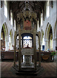 TG2834 : St Botolph, Trunch, Norfolk - Font by John Salmon